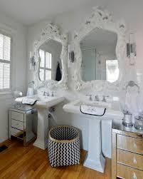 mirrored furniture next. Splashy Bassett Mirror In Bathroom Transitional With Basket Decoration Ideas Next To Furniture Alongside Mirrored Chest