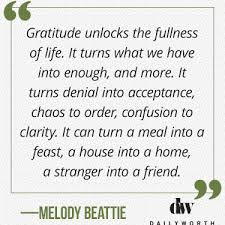 quotes from powerful women on gratitude dailyworth melody beattie