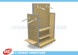 Display Stands For Pictures OEM Four Side MDF Metal Slatwall Display Stands For Garment 89