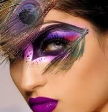 fantasy makeup using feathers mask available at creativecostumestucson mardi gras pea makeup diy by ben nye
