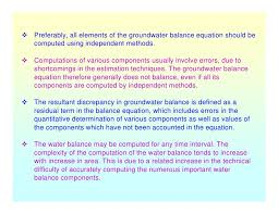 Water Potential Equation Estimation Of Groundwater Potential