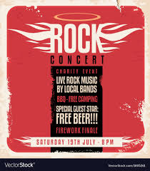 Concert Poster Design Rock Concert Retro Poster Design