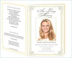 Funeral Service Templates Word New Free Funeral Program Template Download Memorial Service Invitation