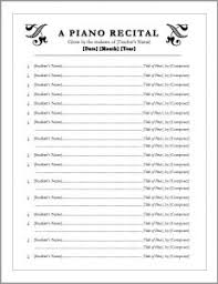 program sheet template free download editable recital program templates music teacher