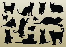 Vectors Silhouettes Vector Pets