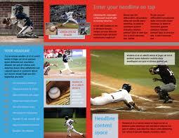 Baseball Brochure Template Top Swing Baseball Camp Tri Fold Brochure Template