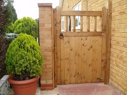 Contemporary Wood Fence Gate Plans Outstanding Brown Color Gravely Shape With Design