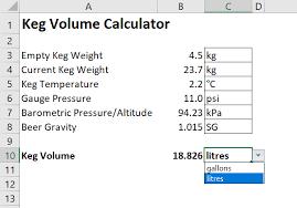 Keg Volume Calculator Homebrewtalk Com Beer Wine Mead