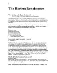 what and when was the harlem renaissance the harlem renaissance  page 1 zoom in