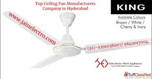 free top ceiling fan manufacturers company in hyderabad