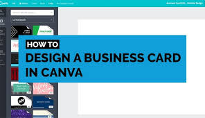 How To Design A Business Card In Canva