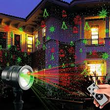 laser decorative lights garden laser light projector remote control indoor outdoor decorations 5w light show green red cola bell for