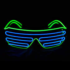 Neon Light Glasses Amazon Com Queenland Led Light Up Neon Shutter Party
