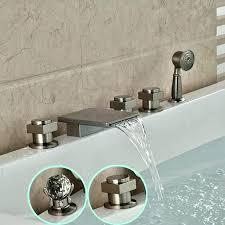 tub wall mount faucet bathtub wall faucet waterfall bathtub faucet wall mount nickel with handheld shower