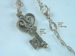 james avery sterling silver key pendant