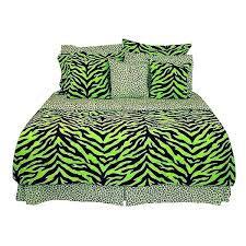zebra bedding sets black lime green zebra print bed in a bag set queen size pink