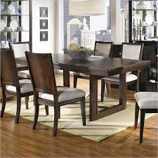 shadow ridge modern rectangular casual dining table in chocolate finish modern rectangular dining table c80 modern