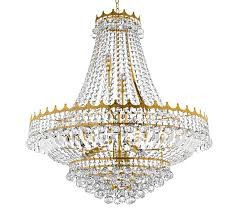 searchlight versailles 13 light chandelier gold finish trimmed with crystal drops 9112 82go