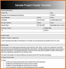 project charter sample project charter sample sop proposal
