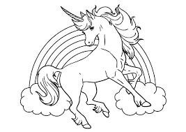 Disegni Da Colorare Degli Unicorni Con Arcobaleno Disegni Da