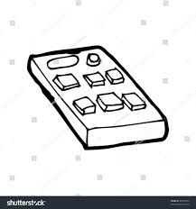 remote control drawing. quirky drawing of a remote control (