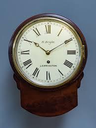 victorian mahogany fusee wall clock