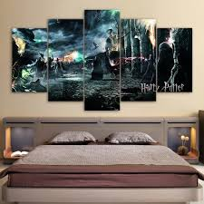 5 pi ce toile art harry potter deathly hallows film affiche hd