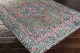 awesome surya zahra zha 4006 greytealhot pink area rug regarding hot pink area rug popular