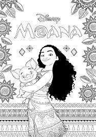 Free Moana Coloring Pages Princess Portrait Page Printable