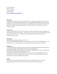 Truck Driver Objective For Resume Truck Driver Resume Template RESUME 19