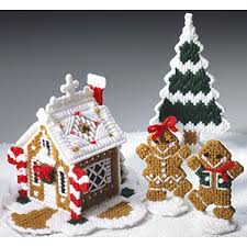 Free Plastic Canvas Christmas Patterns Amazing Christmas Goodies Gingerbread House Boy Girl And Tree Plastic