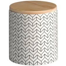 890 black white ceramic patterned storage jar