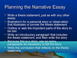 narrative essay writing  specifically assigned 6 planning the narrative essay • write