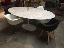 marble dining room furniture. Saarinen Inspired Oval Marble Dining Table - Old Bones Furniture Company Room