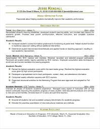 Resume Examples Tutoring Experience Your Prospex