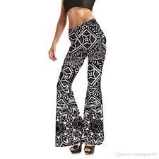 Flare Pants Pattern Custom 48 New Womens Fashion Geometric Diamond Printed Flare Pants Women