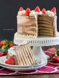 14 Layer Chocolate Strawberry Paleo Cake