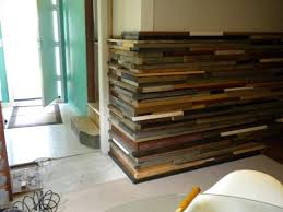 cool idea stacked wood wall manificent design up close diy