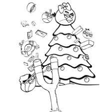 Small Picture Angry Birds Christmas Coloring Pages Printable Coloring Sheets