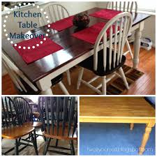Kitchen Table Makeover Two It Yourself Thrifted Kitchen Chairs Makeover