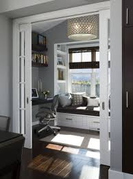 cozy office ideas. A Perfect Little Home Office Nook. I Love The Floors, Doors, Windows And Light. Cozy Ideas O