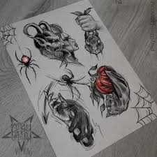 Halloween Flash эскизы подойдут для тату на любой части тела эскиз