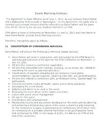 Event Planning Services Agreement Wedding Venue Contract Template Luxury Example Reception