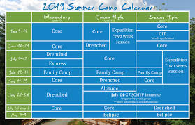 Summer Camp Weekly Schedule Full Schedule Asbury Hills Camp And Retreat Center