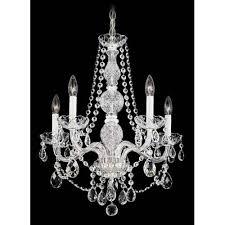 arlington silver five light clear heritage handcut crystal chandelier 20 5w x 24h x