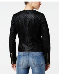 GUESS Geonna Quilted Faux Leather Moto Jacket   Where to buy & how ... & ... GUESS Geonna Quilted Faux Leather Moto Jacket ... Adamdwight.com