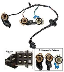 3 socket taillight taillamp wiring harness for 00 02 chevy express apdty 034126 tail lamp light wiring harness bulb connector fits rear left or right on 2000