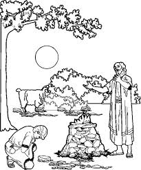 Small Picture Bible Story the Sacrifice of Abraham Son Isaac Coloring Pages