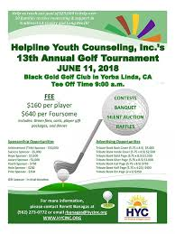 Helpline | Annual Golf Tournament