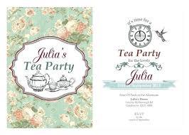 Christmas Tea Party Invitations Invitation For Tea Party Bahiacruiser